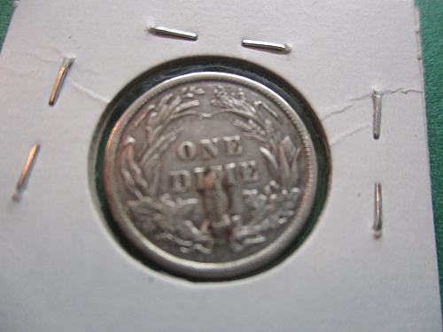 1901  AU50 Details Barber Dime.  Item: 10 B01-01.