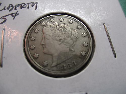 1883  No Cents VF30 Liberty Nickel.  Item: 5 L83N-09.
