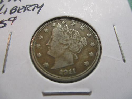 1911 VF20 Liberty Nickel.  Item: 5 L11-02.