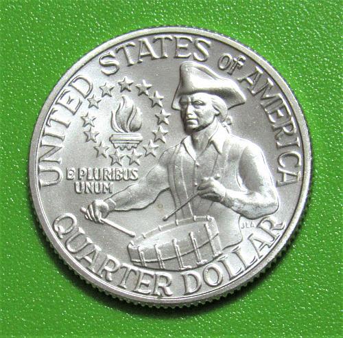 1976-S 25 Cents - Washington Bicentennial Quarter - 40% Silver - Little Drummer