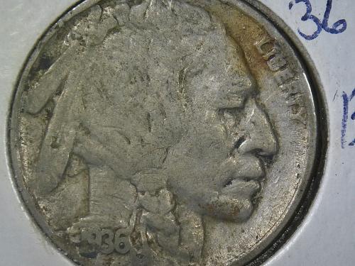 1936 - P Buffalo Nickel #B