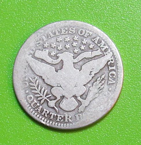 1909 25 Cents - Barber Quarter