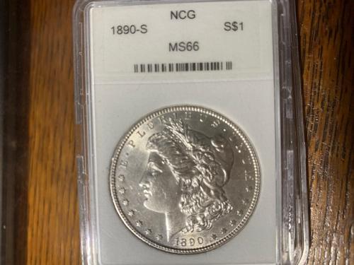 1890 s morgan dollar  ms66