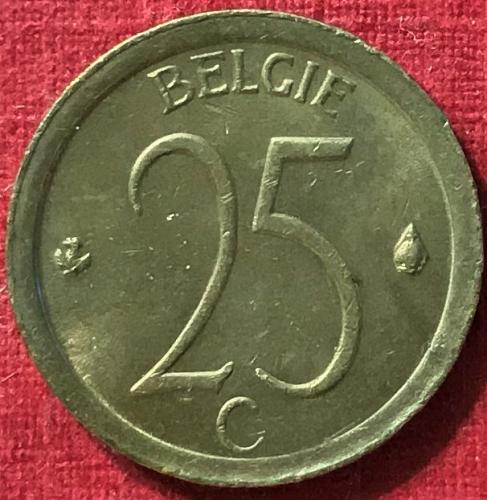 Belgium - 1975 - 25 Cents (Belgie) [#1]