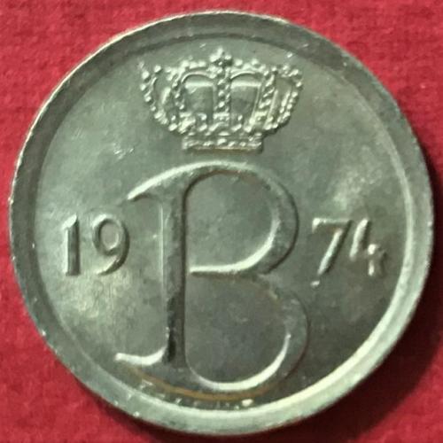 Belgium 1974 = 25 Centimes (Belgique)