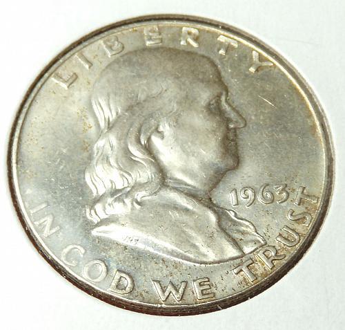 1963D Franklin Half Dollar  MS63  #50-1963D-2