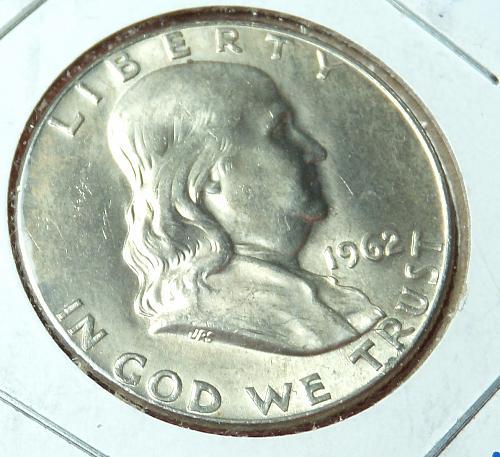 1962D Franklin Half Dollar  MS63+  #50-1962D-1