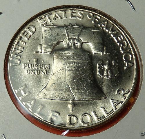 1962 Franklin Half Dollar  MS63+  #50-1962-1