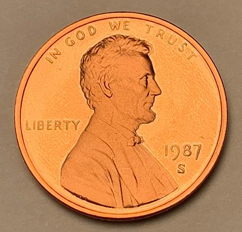 1987-S Proof Lincoln Memorial Cent [LC 194]