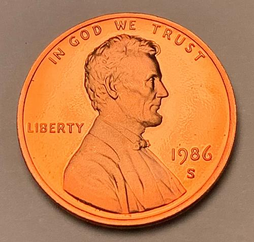 1986-S Proof Lincoln Memorial Cent [LC 196]