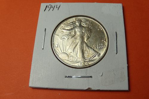 1944 Walking Liberty Half Dollar  AU58  #50-1944-2