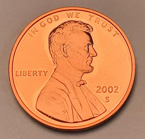 2002-S Proof Lincoln Memorial Cent [LC 203]