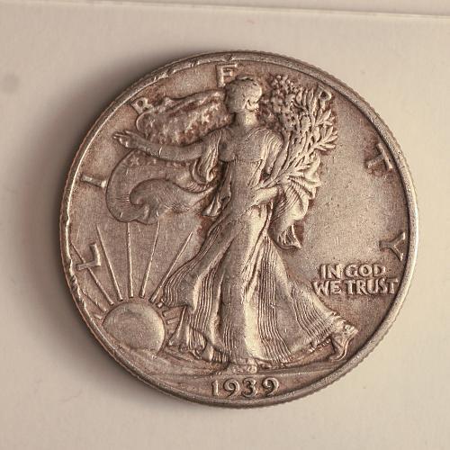 1939 P Walking Liberty Half Dollar XF