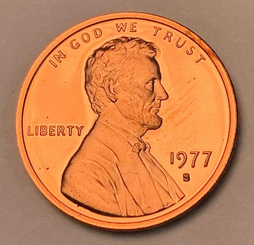 1977-S Proof Lincoln Memorial Cent [LC 213]