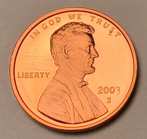 2003-S Proof Lincoln Memorial Cent [LC 222]