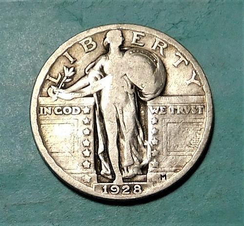 1928 P Standing Liberty Quarter Dollar,