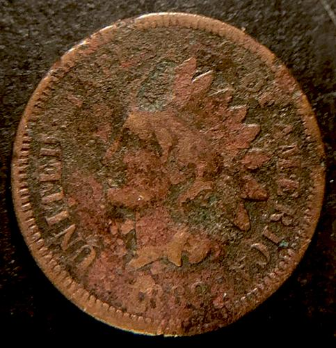 1868 Indian Head Cent Bronze Composite Penny   V2P4R4