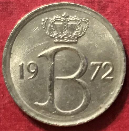 Belgium 1972 = 25 Centimes (Belgique)
