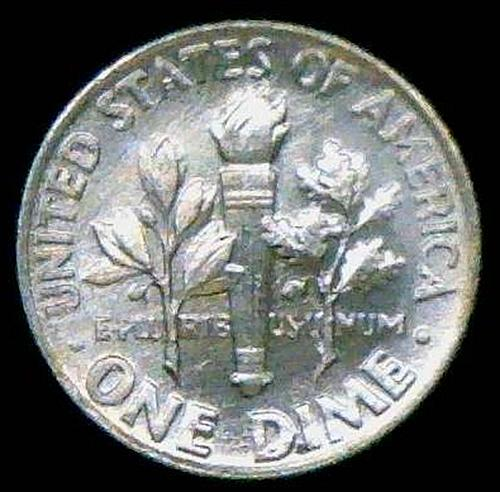 1962 Roosevelt Dimes Silver Composition 90% Silver  BU   V2P5R3