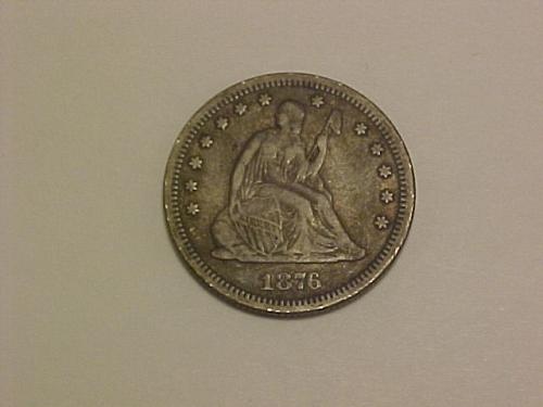 1876 SEATED LIBERTY QUARTER        ae77