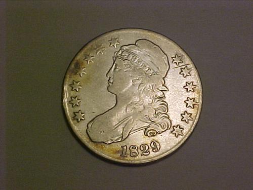 1829 CAPPED BUST HALF DOLLAR        ae81