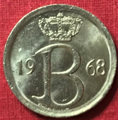 Belgium 1968 = 25 Centimes (Belgique)