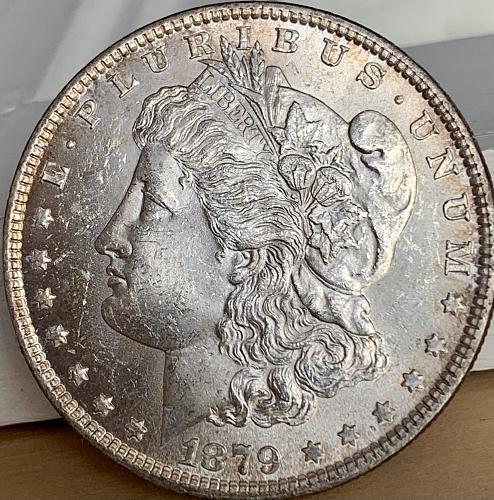 1879-P High Grade Choice BU/MS+++ Original Toned Mint Luster Morgan US Silver Do