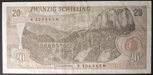 Austria P142a 20 Schilling VF