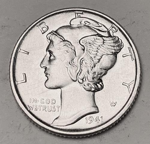 1941 Mercury Dime MS63 [BMRD 220]