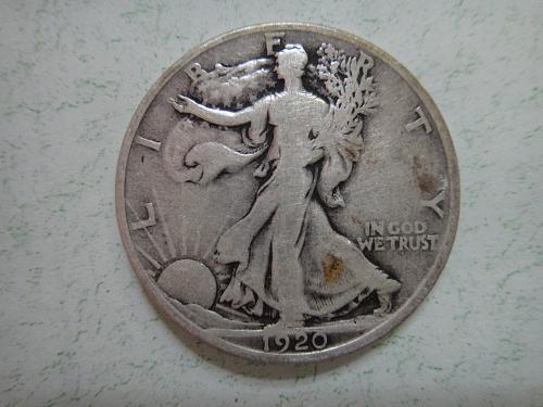 1920 Walking Liberty Half Dollar Fine-12 No Major Marks!