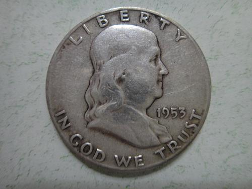 1953-S Franklin Half Dollar Very Fine-25