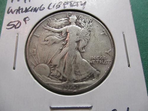 1941  G6 Walking Liberty Half Dollar.  Item: 50 W41-02.