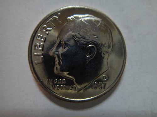 1987-D Roosevelt Dime MS-65 (GEM)