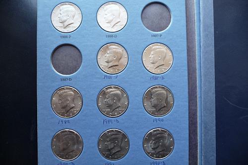 Kennedy Half Dollar Set 1986 - 2003