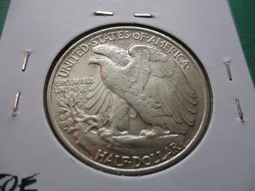 1947  AU55 Walking Liberty Half Dollar.  Item: 50 W47-02.