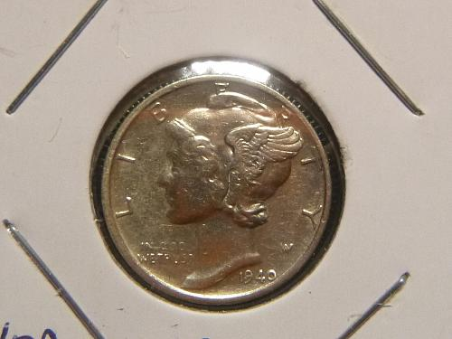 1940 S Mercury Dime