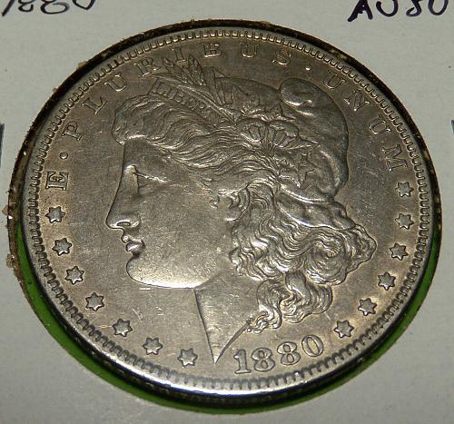 1880 Morgan Dollar  AU50  #$-1880-2