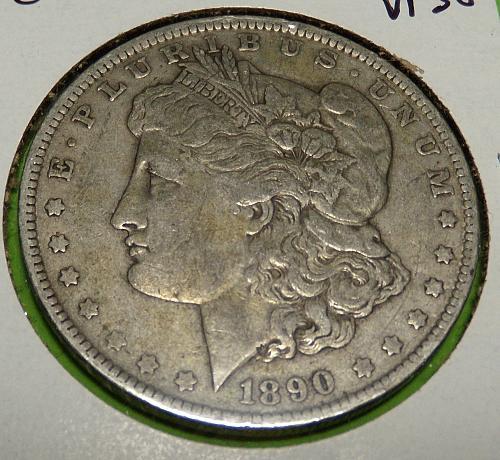 1890O Morgan Dollar  VF30  #$-1890O-2