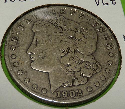 1902O Morgan Dollar  VG8  #$-1902O-3