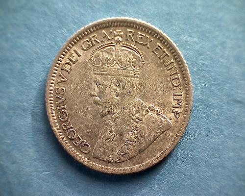 """1921 CANADA TEN CENT """"SILVER""""  KING GEORGE V"""