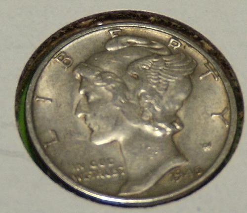 1945 Mercury Dime  AU50  #10-1945-1