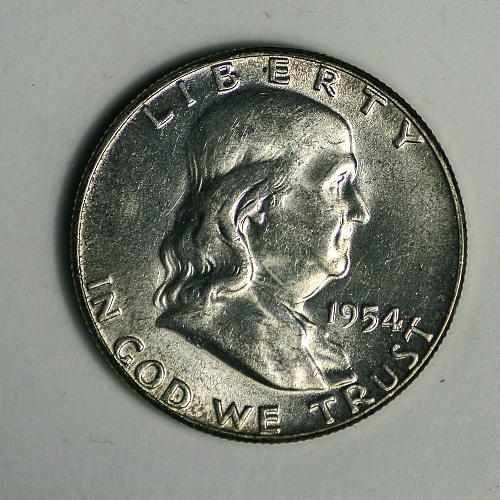 1954 P Franklin Half BU FBL