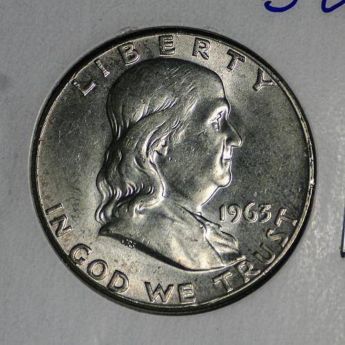 1963 P Franklin Half BU