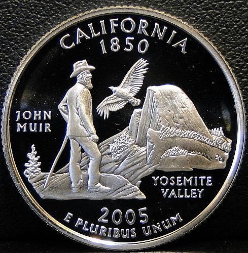 2005-S Silver California Quarter