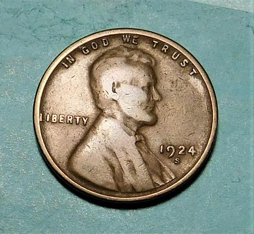 1924 S  Lincoln Wheat Cent