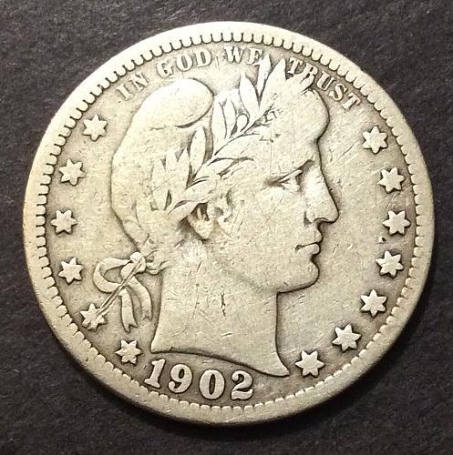 1902 O Barber Quarter, VG imo, see pics and description (cn1)