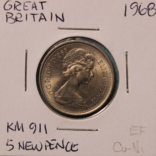 Great Britain 1968 5 new pence