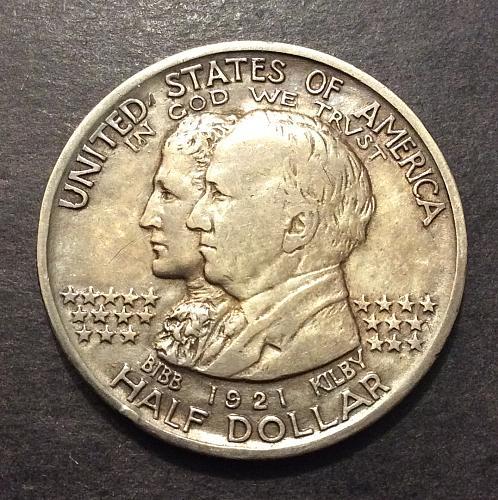 1921 Alabama Commemorative Half Dollar, higher grade! see pics and description!