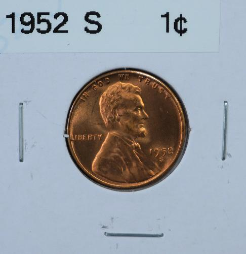 1952 S Lincoln Wheat Cent