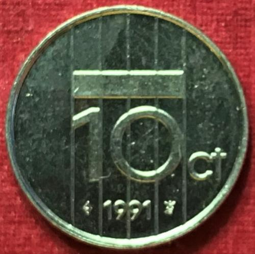 Netherlands 1991 - 10 Cents